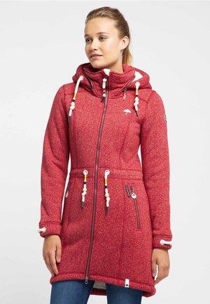 Winter coat - red melange