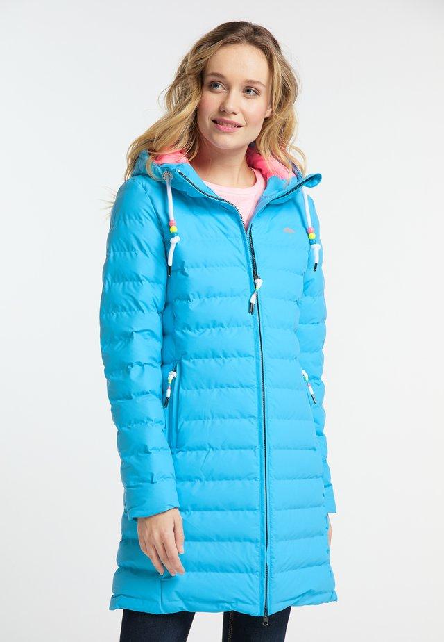 Płaszcz zimowy - neon blue