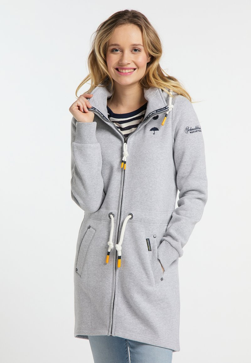 Schmuddelwedda - Zip-up hoodie - light grey melange