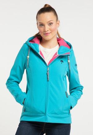 SCHMUDDELWEDDA SOFTSHELLJACKE - Outdoor jacket - turquoise