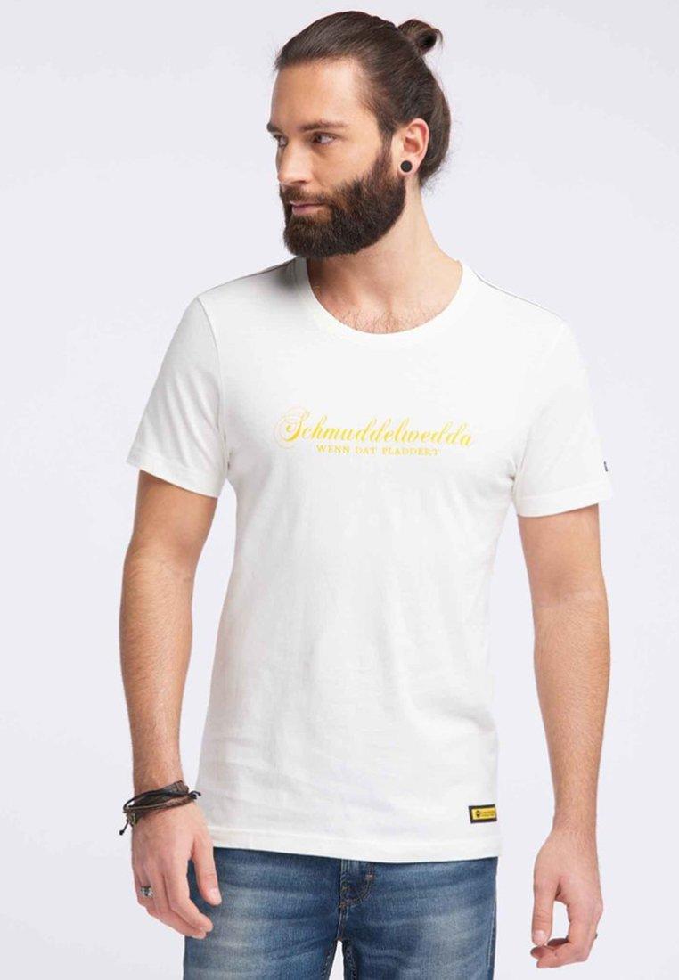 Schmuddelwedda - Camiseta estampada - wollweiss