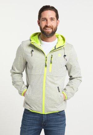 Outdoor jacket - hellgrau mel gelb