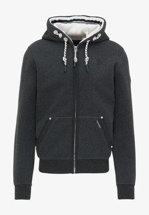 veste en sweat zippée - dunkelgrau melange