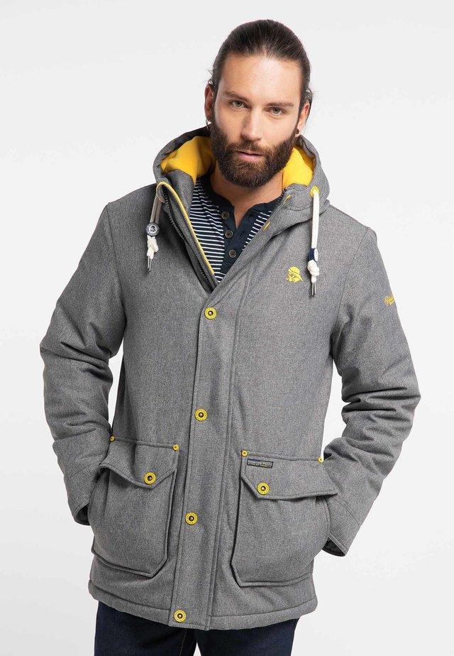 Winter jacket - gray melange