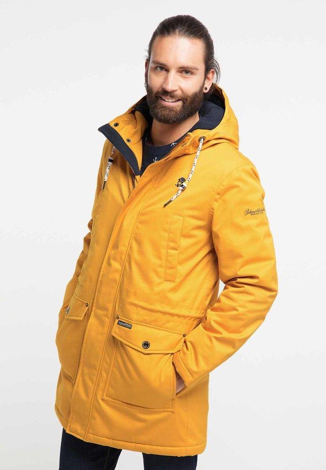 Płaszcz zimowy - mustard