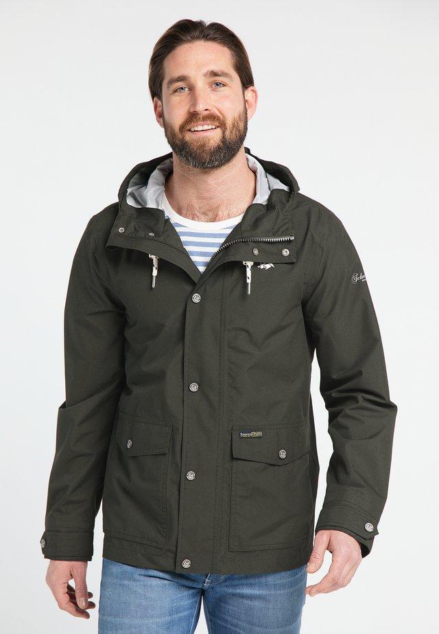 Waterproof jacket - dunkeloliv