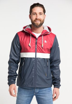 Impermeable - red/marine
