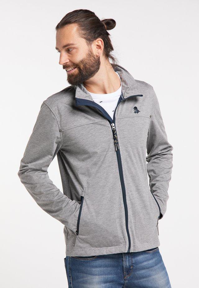 SCHMUDDELWEDDA FUNKTIONSJACKE - Outdoor jacket - grau melange