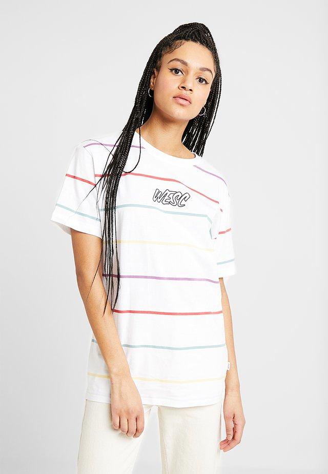 MASON DYE STRIPE - T-shirt med print - white