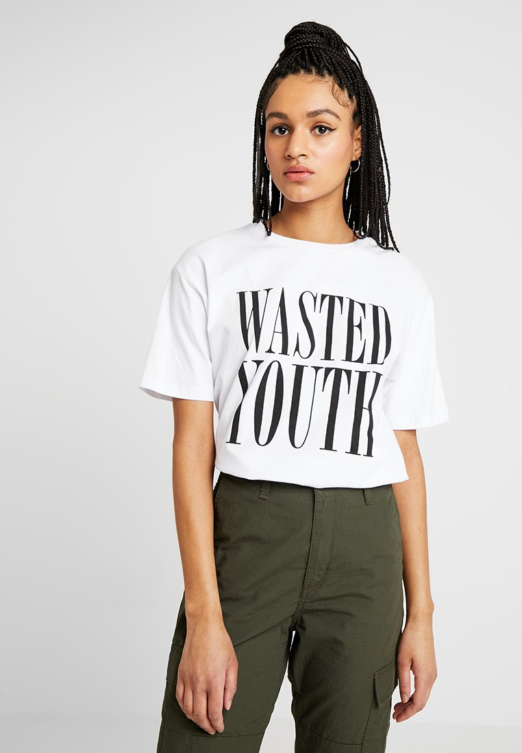 WeSC - MASON WASTED YOUTH - T-shirt con stampa - white
