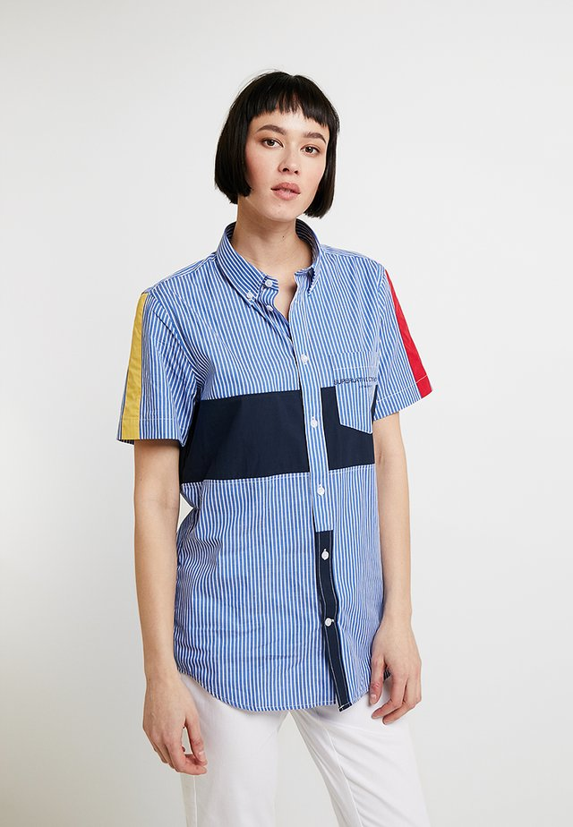 ODEN BLOCKED - Blouse - cerulean blue