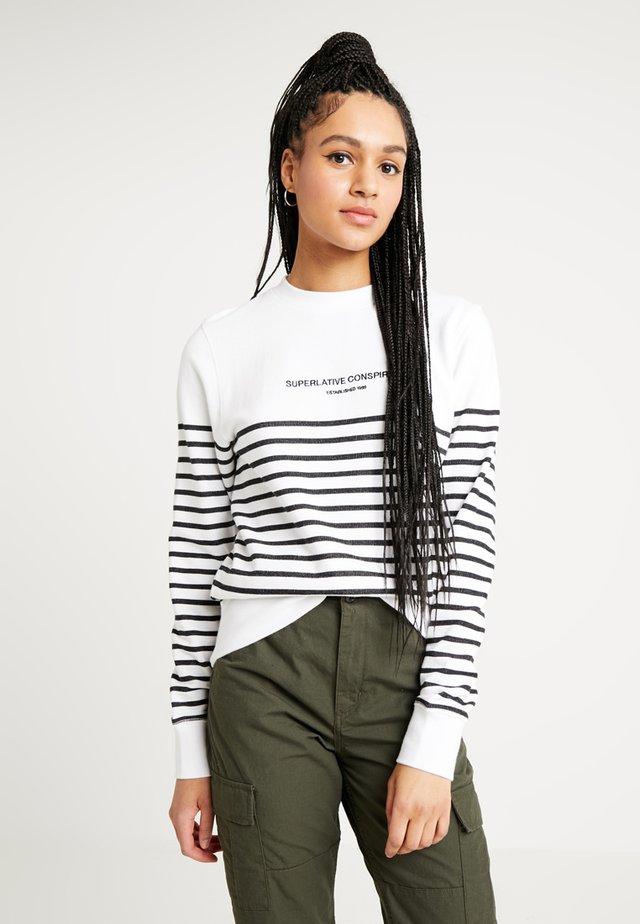 MILES YARN DYE STRIPE - Sweater - white