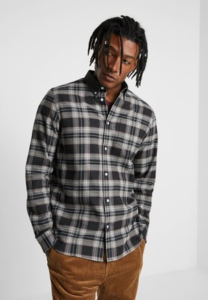OLAVI COLLAR SHIRT - Skjorte - black