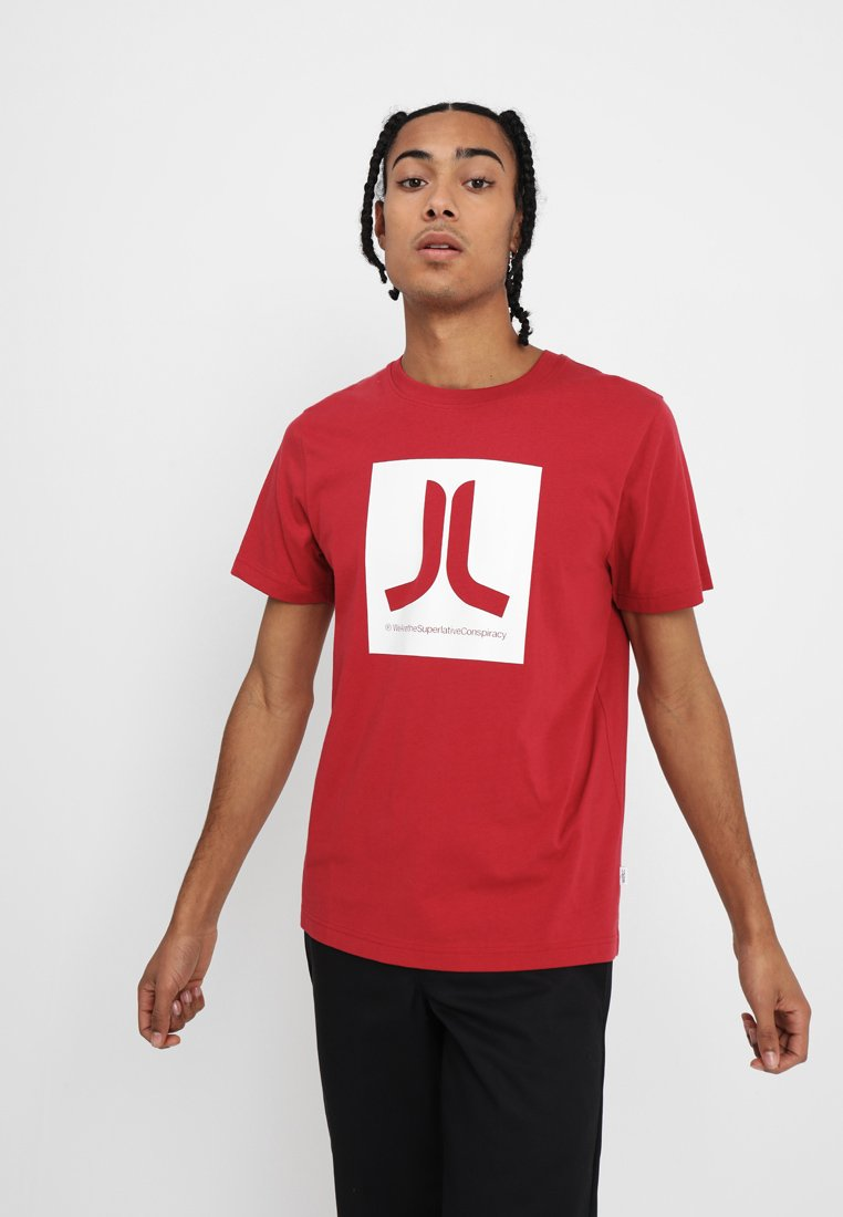 WeSC - BOX ICON - Print T-shirt - jester red