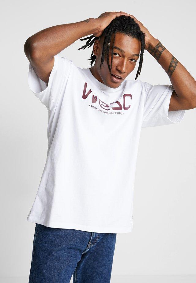 MASON LOGO - T-shirt med print - white