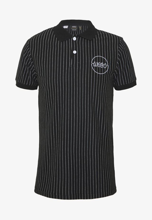 PINSTRIPE ANTARCTIC - Polo shirt - black