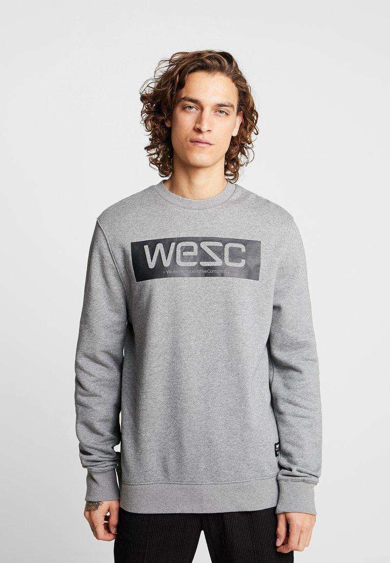 WeSC - MILES LOGO - Bluza - medium grey melange