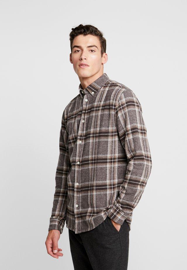 DANNY SHIRT  - Skjorta - dark brown/grey