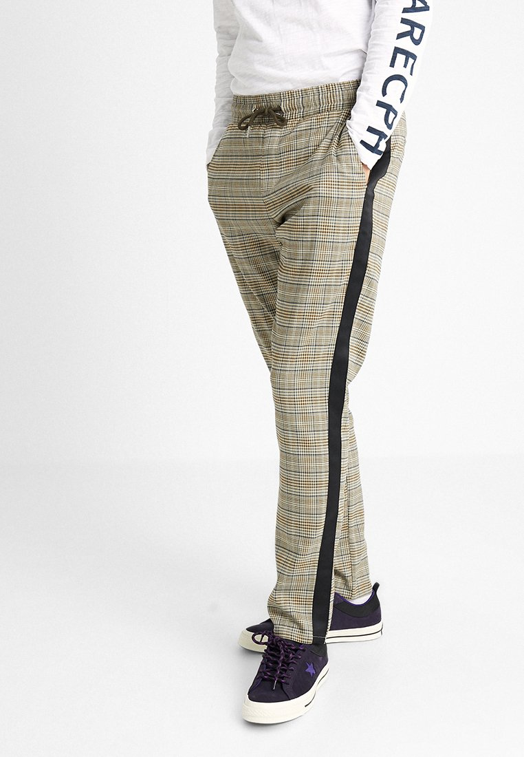 We are Cph - JANZIK TAPE PANTS  - Trousers - grey