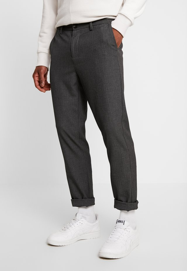 JANZIK  - Trousers - dark grey / melange