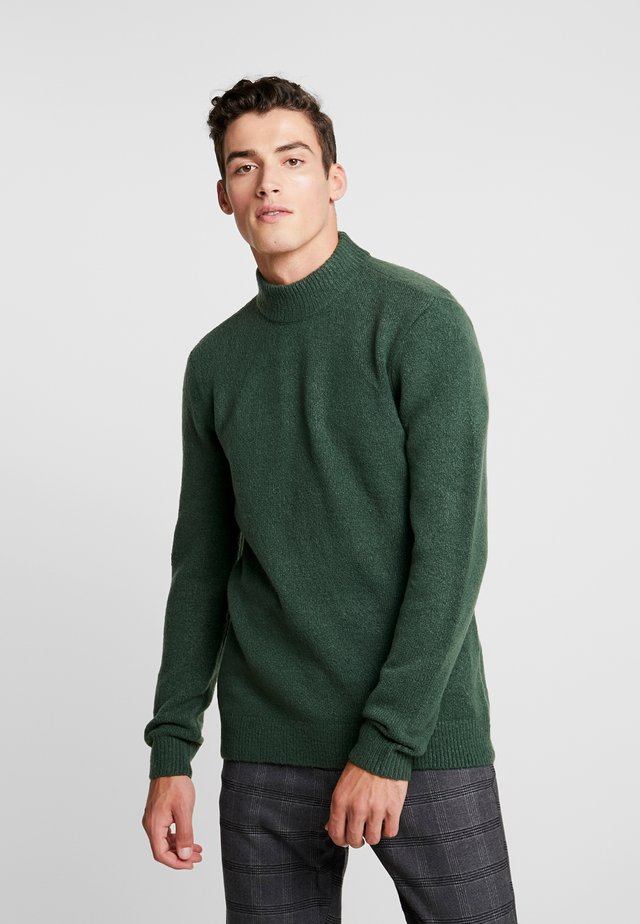 GARY TURTLE NECK - Pullover - dark green