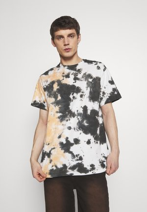 UNISEX BILLY TIE DYE - Triko s potiskem - black allover tie dye