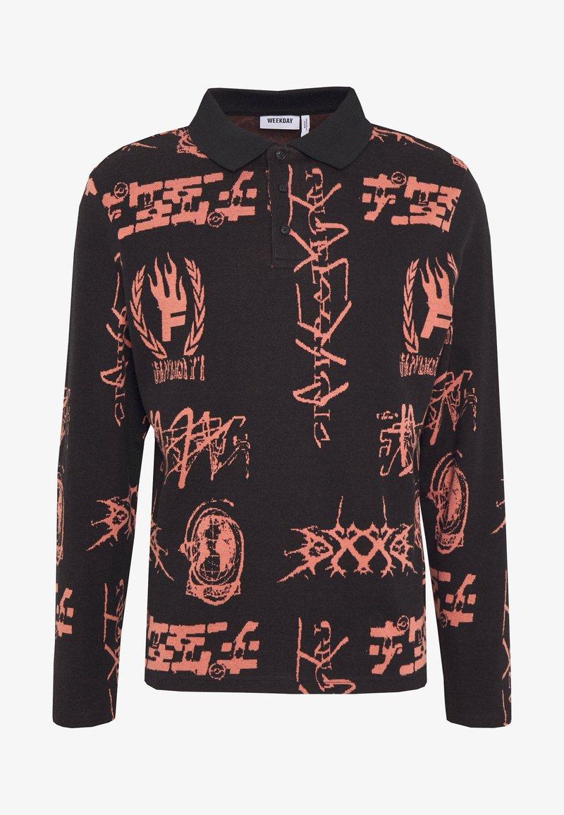 Weekday HANNES GLOBAL JACQUARD - Sweatshirt - black