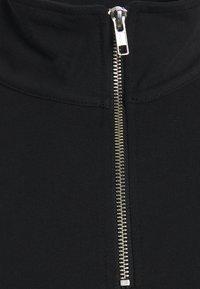 Weekday - UNISEX TOBIAS HALFZIP LONGSLEEVE - Long sleeved top - black - 3