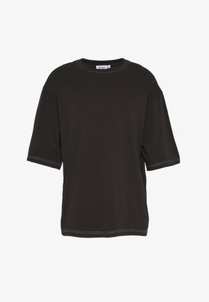 UNISEX NOAH OVERDYE  - T-shirt - bas - overdye black