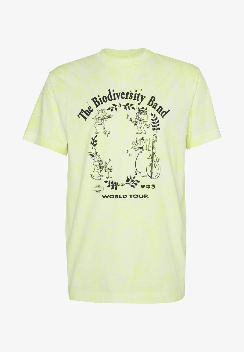 Weekday - UNISEX BILLY BIODIVERSITY - T-shirt imprimé - yellow tie dye