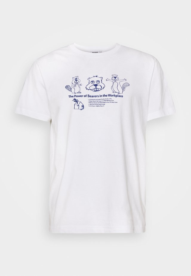UNISEX Relaxed Printed - T-shirt imprimé - white
