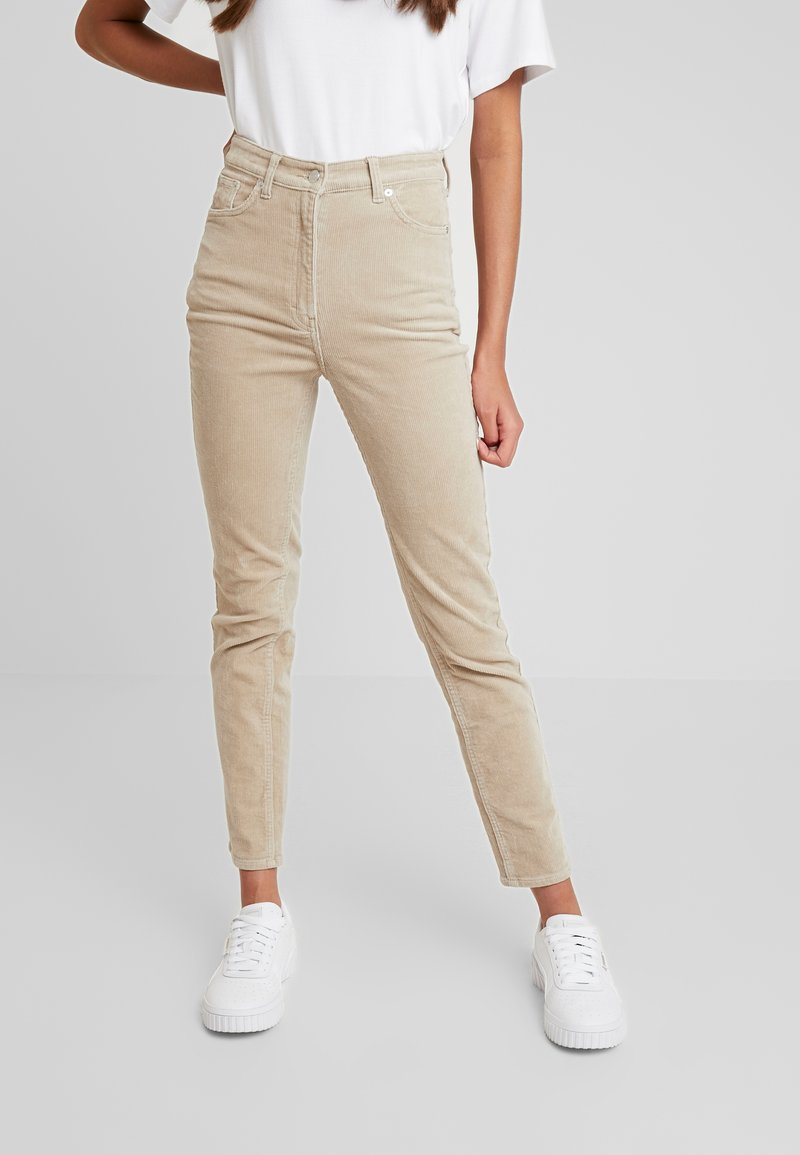 Weekday - EVE TROUSER - Stoffhose - sand