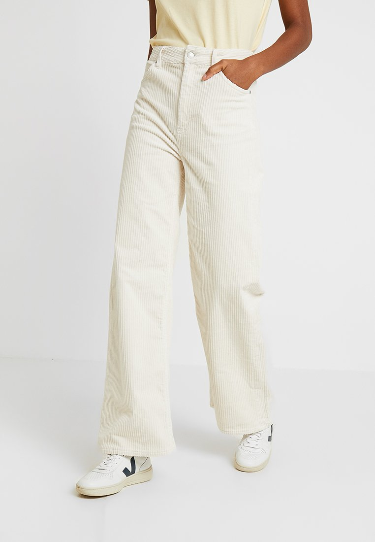 Weekday - ACE TROUSER - Stoffhose - off white