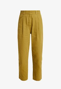 Weekday - MOLINO TROUSERS - Pantaloni - yellowgreen - 3