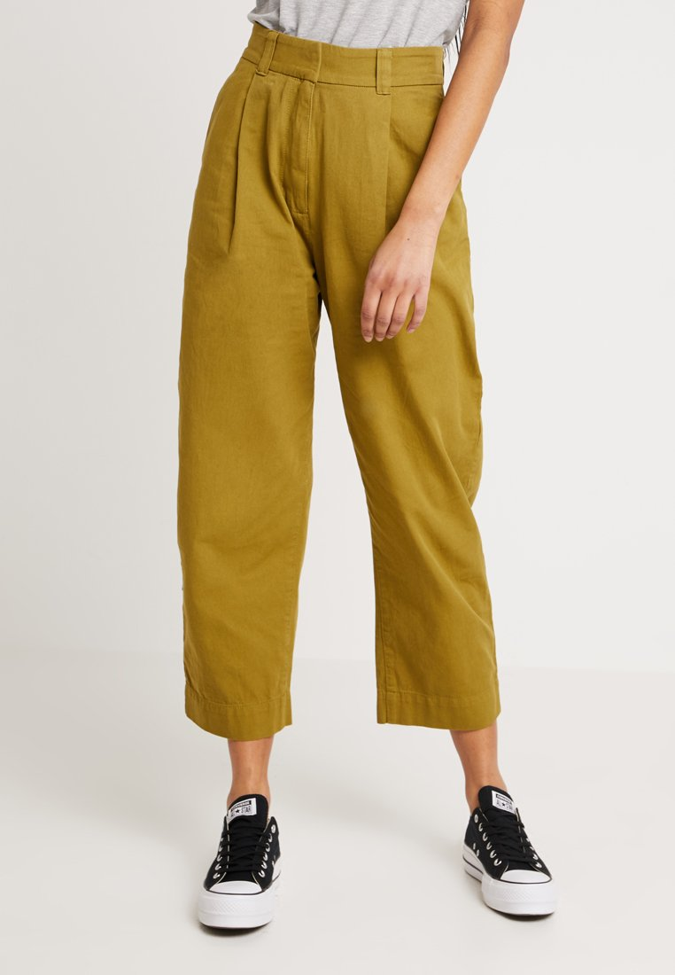 Weekday - MOLINO TROUSERS - Pantaloni - yellowgreen