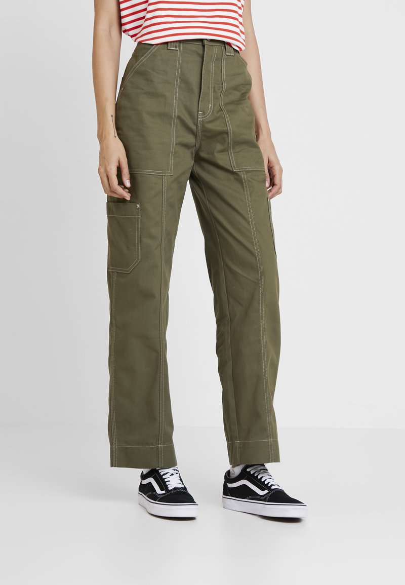 Weekday - GROW TROUSERS - Jeans Relaxed Fit - khaki