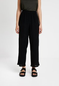 Weekday - LULA TROUSERS - Pantaloni - black - 0
