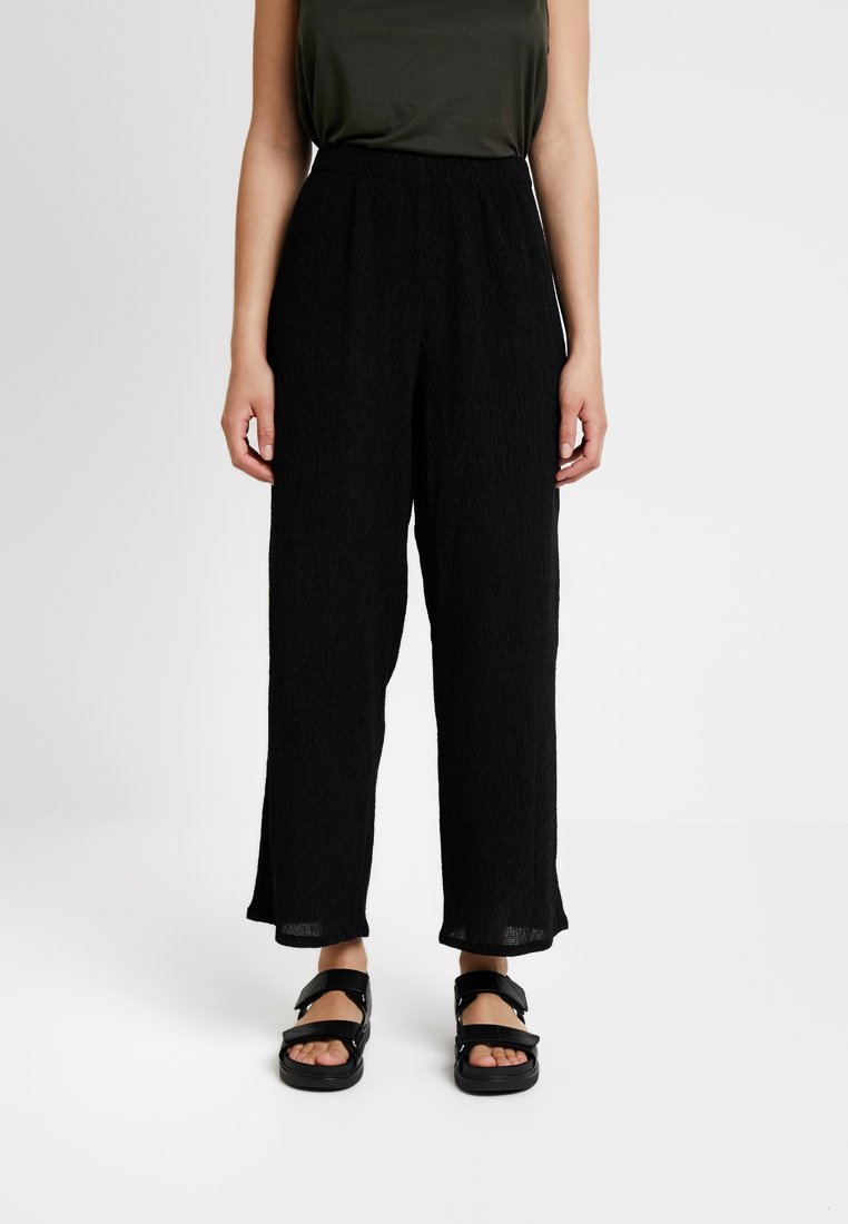 Weekday - LULA TROUSERS - Pantaloni - black
