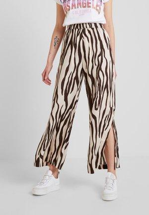 COCO TROUSER - Kalhoty - beige/black