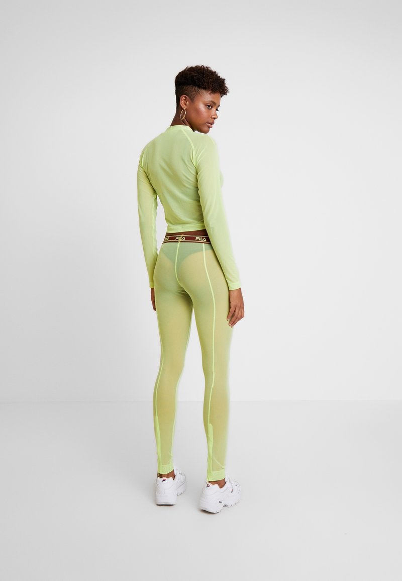 Weekday - FILA FOR WEEKDAY HAVEN - Leggings - Trousers - sharp green