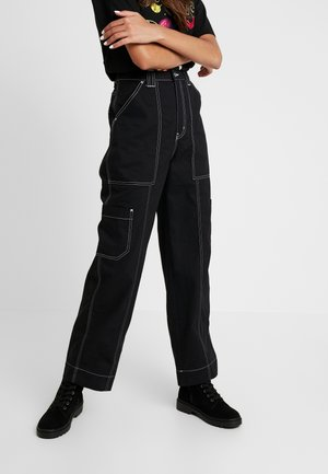 GROW TROUSERS - Relaxed fit jeans - black