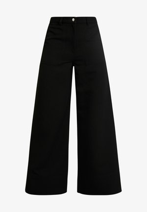 KIM TROUSERS - Bukser - black