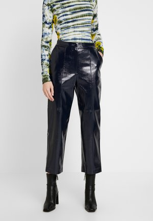 KYLIE PATENT TROUSERS - Trousers - navy