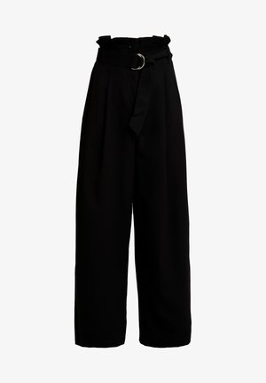 PEYTON PAPERBAG TROUSER - Trousers - black
