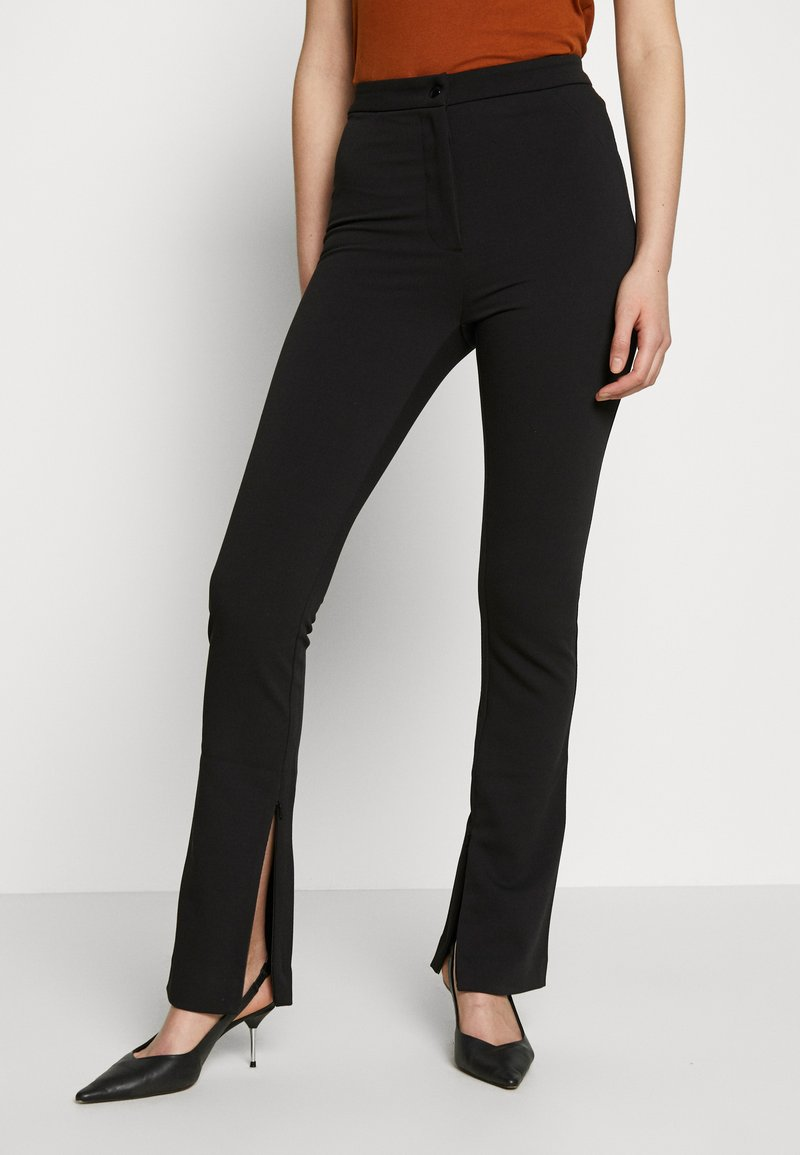 Weekday - ALECIA TROUSER - Trousers - black