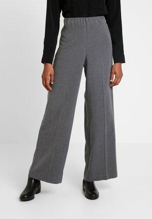 JULIA TROUSER - Trousers - dark grey melange