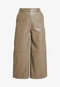 Weekday - REGINA TROUSER - Trousers - mole - 4