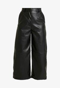 Weekday - REGINA TROUSER - Trousers - black - 4