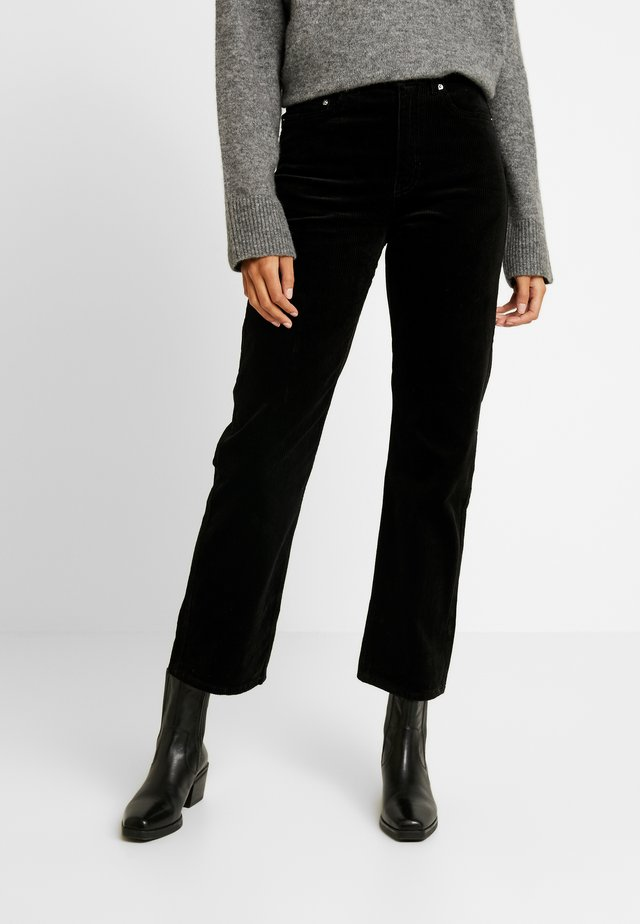 ROW TROUSERS - Trousers - black