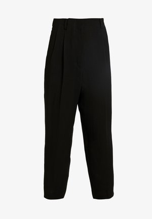 RITZ DRAPY TROUSERS - Bukse - black dark